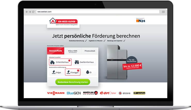 ich-heize-clever.de Webdesign